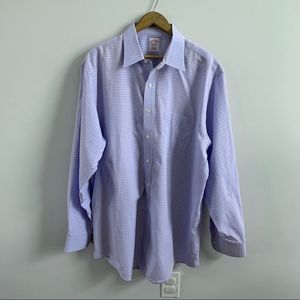 Brooks Brothers   Blue Plaid Checkered Button Down